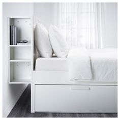 IKEA BRIMNES bed frame w storage and headboard