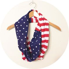 American Flag Scarf // American Flag Clothing Accessories// American Flag July 4th Scarf