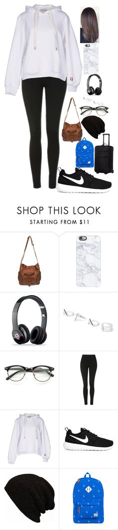 """""""Untitled #716"""" by lifeasgege ❤ liked on Polyvore featuring Wet Seal, Casetify, Beats by Dr. Dre, Topshop, T By Alexander Wang, NIKE, Herschel Supply Co. and Victorinox Swiss Army"""