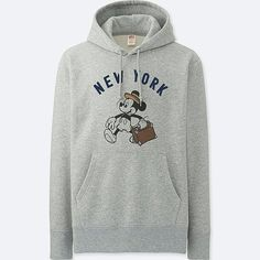Uniqlo Men's Mickey Travels Graphic Hoodie