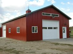 The pole barn also known as pole building or post frame construction is a simplified technique to bu Pole Barn Shop, Pole Barn Garage, Pole Barn Homes, Pole Barns, Garage Plans, Shed Plans, Garage Ideas, Barn Plans, Car Garage