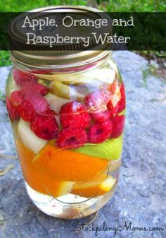 Quench your thirst with flavored water!
