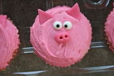 Extremely cute pig cupcake