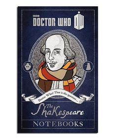 Doctor Who: The Shakespeare Notebooks Hardcover | Since his first adventures in 1963, Doctor Who has had many encounters with Shakespeare who, it turns out, credits the Doctor with inspiring some of his greatest works. This collection of notes and journal entries reveals that the Bard wouldn't be who he is if not for a certain two-hearted alien.