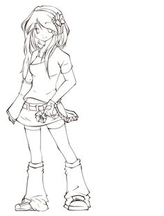 Lineart - Hanane Miyako by miyako47.deviantart.com on @DeviantArt