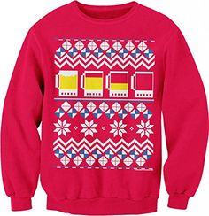 Beer Mug Drinking Games Funny Holiday Ugly Christmas Sweater Sweat Shirt Red ShirtInvaders http://www.amazon.com/dp/B00PM2C14Y/ref=cm_sw_r_pi_dp_9.qHub0CP7K80