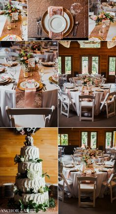 tables and florals at the reception