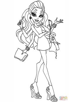 Clawd Wolf from Monster High coloring page | Monster high ...