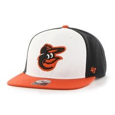 79e8f65ce27 Baltimore Orioles No Shot Two Tone Captain Home 47 Brand YOUTH Hat