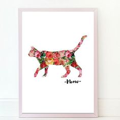 Oh Yes a super feminine flowery cat print. Purrrfect for your home!!! Visit IknowImPerfectPrints to discover hundreds of beautiful quirky prints for your home: http://etsy.me/2iiUDgH #etsy #etsyhunter #huntinghandmade #handmade #Instagram #selfies #homedecor #pinkdecor #glamprints ##sarcasticprint #pinkchandelier #chandelier #etsyseller #etsyshop #etsyprint #etsyfinds #etsylove #etsygifts #etsyhandmade #etsyelite #etsyshopowner #etsysale #pinklove #instabuy #printshop #prints #printdesign…