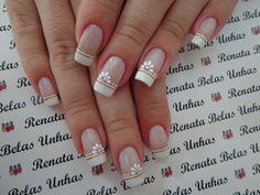 Bride Nails, Wedding Nails, Shellac Nails, Manicure And Pedicure, Cute Nails, Pretty Nails, Neutral Nail Art, Plain Nails, Simple Acrylic Nails