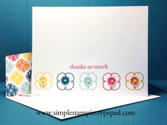 "Super Simple Mosaic Madness ""thank you..."" - Stampin' Up!"