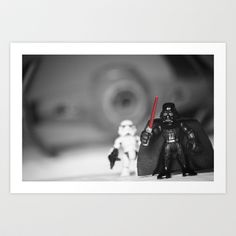 Darth+Vader+&+Stormtrooper+with+tyfighter+Art+Print+by+Macmillen+Photography+-+$38.48