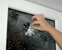 svěhové vločky, zimní dekorace do okna, papírové vločky, návod, dekorace do oken, zasněžená okna, okenní dekorace