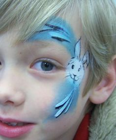Easter rabbit eye design - Inspired by Lisa Joy Young snowman eye design painted. - Famous Last Words Face Painting Designs, Body Painting, Easter Face Paint, Christmas Face Painting, Lisa, Face Design, Animal Faces, Face Art, Painting Inspiration