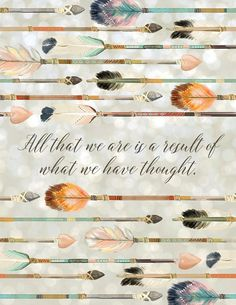 All that we are is a result of what we have thought Printable Motivational Art Inspirational Printable Quote law of attraction, manifesting #printables #affiliate #downloads #quotes