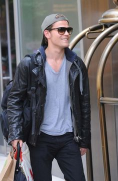 Paul Wesley out and about in Soho, NYC.