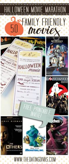 Family-Friendly Halloween Movie Marathon! What a FUN family tradition.