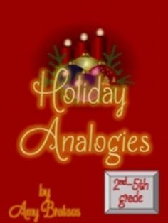 Christmas & Holiday Analogies -Vocabulary & Critical Thinking Activities
