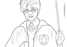 Harry Potter coloring pages for kids, printable free coloring books