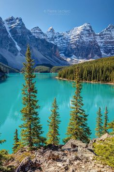 Blue Moraine Lake in Banff National Park Alberta Canada. Lac Moraine, Moraine Lake, Lake Moraine Canada, Landscape Photos, Landscape Photography, Nature Photography, Travel Photography, Cool Landscapes, Beautiful Landscapes