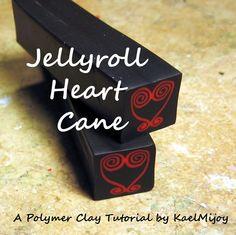 Kael Mijoy: Polymer Clay Tutorial:  Jellyroll Heart Cane