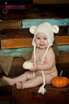 bear baby beanie crochet pattern