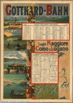 Gotthard-Bahn, Laghi Maggiore, Como und Lugano