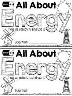 This 41-page science mini-book was created to help teach the Next Generation Science Standards for 4th grade.This booklet covers 4-PS3 (energy) and 4-ESS3 (earth and human activity).It covers the following principles: what is energy, how does energy work, different kinds of energy, potential & kinetic energy, moving energy, light energy, sound energy, heat energy, electrical energy, natural resources, renewable vs.