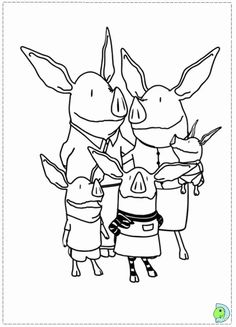 Olivia the Pig Coloring page