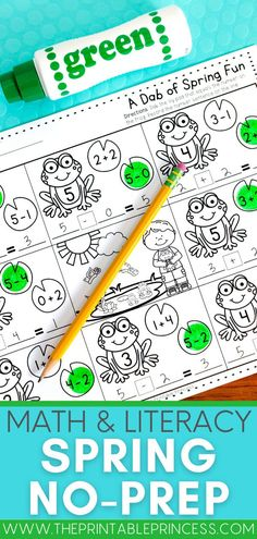 This math and literacy resource includes 35 pages of spring themed activities that were made just for kindergarten and are perfect for classroom practice, morning work, homework, or distance learning in kindergarten. Subtraction Activities, Kindergarten Math Activities, Word Work Activities, Counting Activities, Letter Activities, Kindergarten Literacy, Kindergarten Classroom, Classroom Ideas, First Grade Teachers