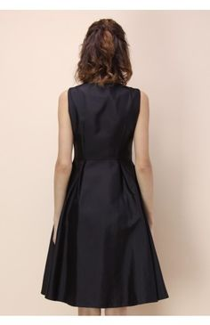 Concise Yet Charming Coat Dress in Black - Dress - Retro, Indie and Unique Fashion