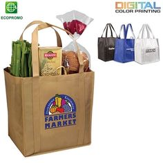 Promotional Non-Woven Tundra Tote Bag Full Color Digital | Customized Tote Bags | Promotional Tote Bags