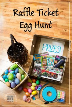 Raffle Ticket Egg Hunt - Fun and Educational Homemade Game for Preschoolers and Kindergarteners (GREAT idea, right before Easter is coming up and better alternative than candy! Easter Egg Hunt Games, Easter Party Games, Easter Activities, Easter Egg Hunt Ideas, Cool Easter Eggs, Easter Stuff, Do It Yourself Baby, Easter Brunch, Easter Treats