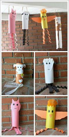 Farm Animal Crafts for Preschoolers & Kindergarteners: Cow, Sheep, Pig, and Chicken Windsocks~ BuggyandBuddy.com