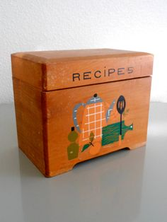 Nevco Wooden Recipe Box