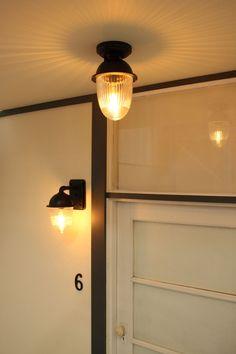 Millport Exterior Flush Mount Light Exterior Lighting, Outdoor Wall Lighting, Wall Lights, Ceiling Lights, Flush Mount Lighting, Facade Design, Australia Living, Glass Texture, Glass Shades