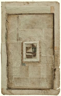 Antique paper with engraving on watercolor paper.  Robert Ohnigian