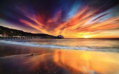 Praias Nuvens Cores Natureza Skyscapes Nascer do sol Pôr do sol