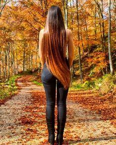 Grow Long Hair, Long Brown Hair, Beautiful Long Hair, Hair Care Tips, Healthy Hair, Cool Hairstyles, Leather Pants, Long Hair Styles, Pretty