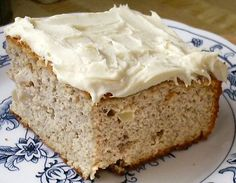 Low Carb APPLE CAKE - i prefer this without the frosting but this picture is much nicer.