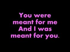 Jewel-You Were Meant For Me[lyrics]