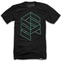 Stacked by Ugmonk #graphic #design #geometric #shirt #tshirt #fashion #style #inspiration #illustration #modern #green