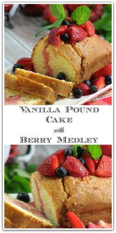 Pound cake is such a versatile dessert! Serve it with berries for some extra vitamin C! Fruit topped desserts just scream summer, don't they? I love recipes that are this easy, too. Enjoy!