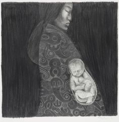 Object: Te Po and Papatuanuku Creation Myth, New Zealand Art, Nz Art, Maori Art, Mother And Baby, Native Art, Aesthetic Art, Art Drawings, Contemporary Art
