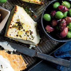 How to make Baked Ricotta & Olives Australian Food, Australian Recipes, Baked Ricotta, Olive Recipes, Snacks Für Party, Entree Recipes, Savory Snacks, Tray Bakes, Food Dishes