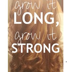 Grow it long, grow it strong. Great blog about hair & natural homemade hair products