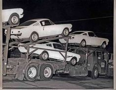 Mustangs arriving at night to become GT 350's Shelby Automobile Inc. Production…