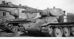 Beute panzer examples are these T-34 and KV-2 tanks modified for German service