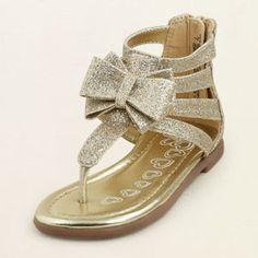 glitter gladiator sandal